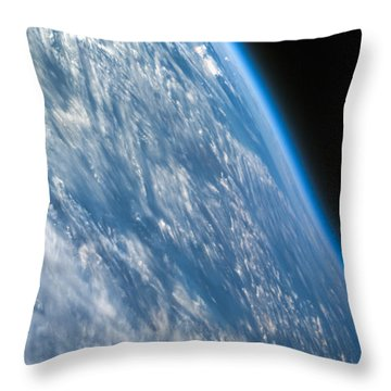 Oblique Shot Of Earth Throw Pillow by Adam Romanowicz