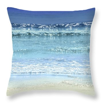 Ocean Colors Abstract Throw Pillow by Elena Elisseeva