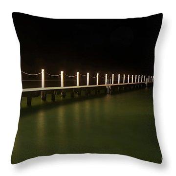 Ocean Pool By Night 2 Throw Pillow by Kaye Menner