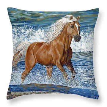 Ocean Stallion Throw Pillow by Danielle  Perry