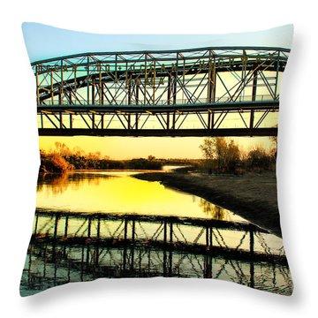Ocean-to- Ocean Bridge Throw Pillow by Robert Bales