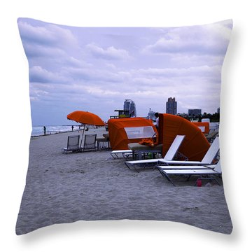 Ocean View 6 - Miami Beach - Florida Throw Pillow by Madeline Ellis