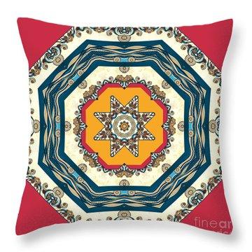 Ocean Waves - Mandakal 04cm22a Throw Pillow by Aimelle