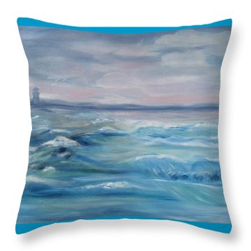 Oceans Of Color Throw Pillow by Diane Pape