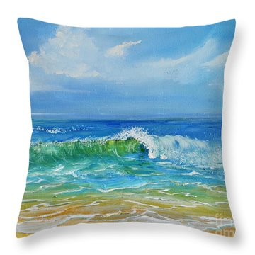 Oceanscape Throw Pillow by Teresa Wegrzyn