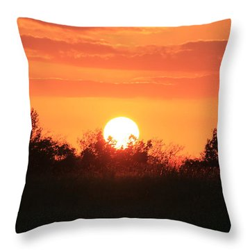 October East Texas Sunset Throw Pillow by Lorri Crossno