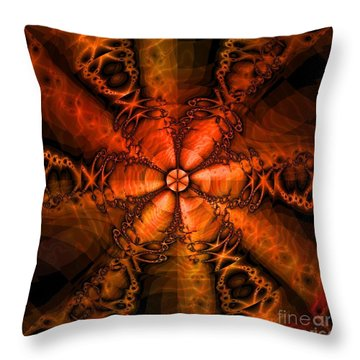 October Throw Pillow by Elizabeth McTaggart