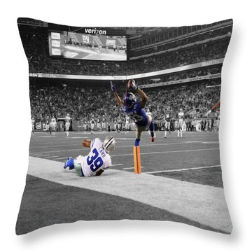 Odell Beckham Breaking The Internet Throw Pillow by Brian Reaves