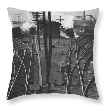 Off To Work Throw Pillow by J D Owen