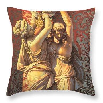 Offering Throw Pillow by Mia Tavonatti