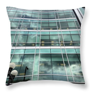 Office View Throw Pillow by Dan Sproul