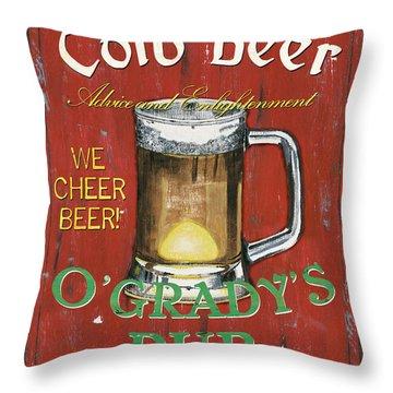 O'grady's Pub Throw Pillow by Debbie DeWitt