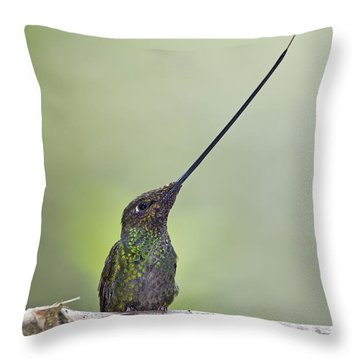 Oh Mighty Sword.. Throw Pillow by Nina Stavlund
