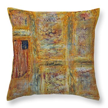 Oh Say Throw Pillow by Jim Benest
