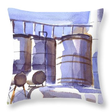 Oil Depot In April Throw Pillow by Kip DeVore
