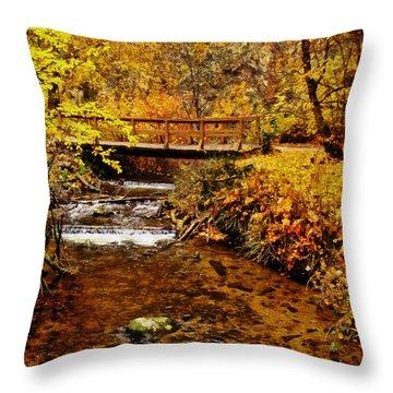 Okanagan Autumn Throw Pillow by Kathy Bassett