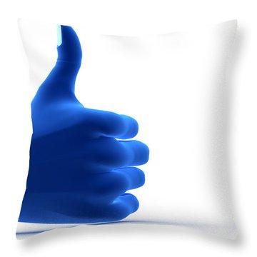 Okay Gesture Throw Pillow by Michal Bednarek