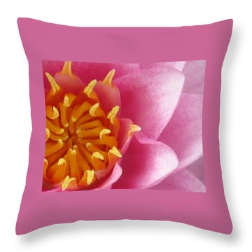 Okeefe Lily Blossom Throw Pillow by Debbie Finley