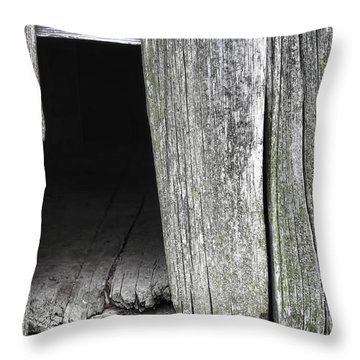 Old Barn Wall Throw Pillow by Olivier Le Queinec