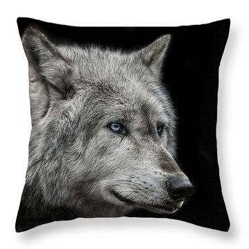 Old Blue Eyes Throw Pillow by Paul Neville