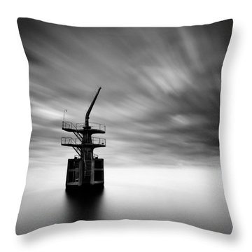Old Crane Throw Pillow by Dave Bowman