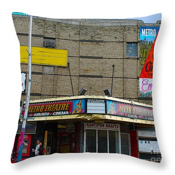 Old Film Theatre In Decay Throw Pillow by Nina Silver