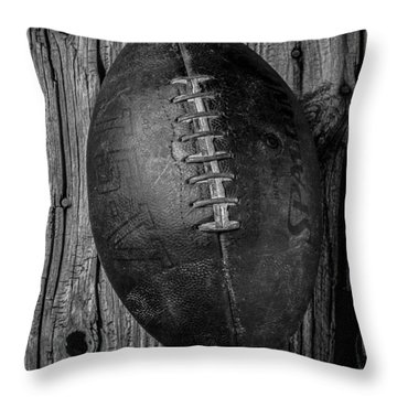 Old Football Throw Pillow by Garry Gay