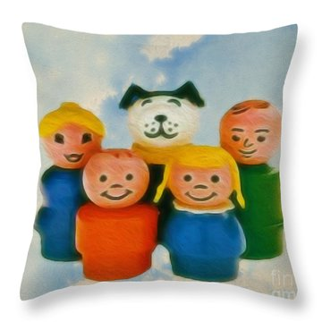 Old Friends  Throw Pillow by Cheryl Young