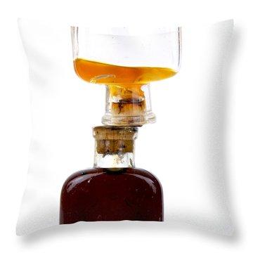 Old Glass Bottles With Corks Throw Pillow by Bernard Jaubert