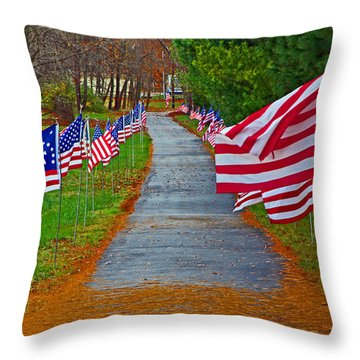Old Glory Throw Pillow by Andy Lawless