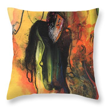 Old Man In Morocco Throw Pillow by Miki De Goodaboom