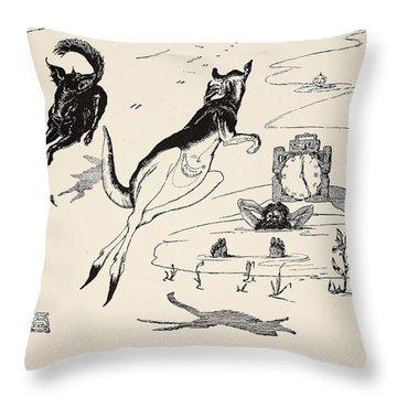 Old Man Kangaroo At Five Throw Pillow by Rudyard Kipling