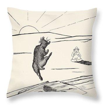 Old Man Kangaroo Throw Pillow by Rudyard Kipling