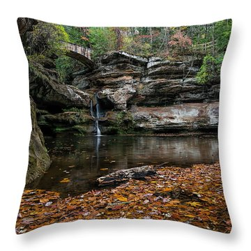 Old Mans Cave Throw Pillow by James Dean