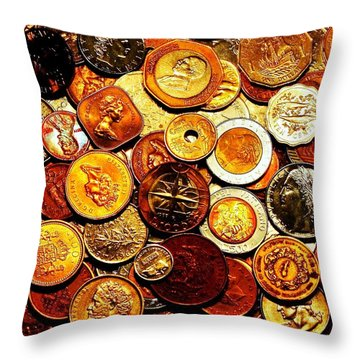 Old Metal Throw Pillow by Benjamin Yeager