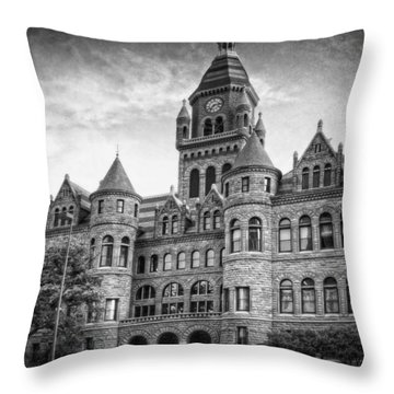 Old Red Monochrome Throw Pillow by Joan Carroll