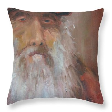 Old Salt Christo At 80 Throw Pillow by Susan Richardson