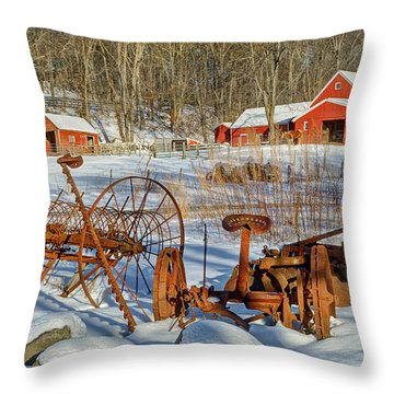 Old School Throw Pillow by Bill Wakeley