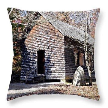 Old Schoolhouse Building Throw Pillow by Susan Leggett