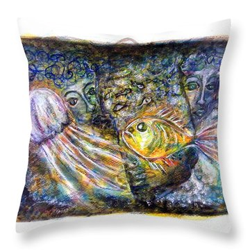 Old Souls Of Atlantis Throw Pillow by Mimulux patricia no