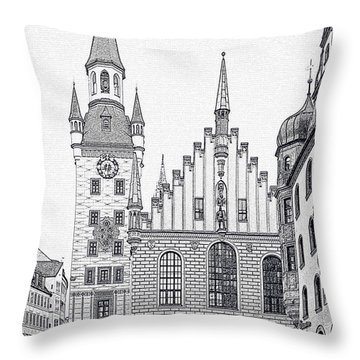 Old Town Hall - Munich - Germany Throw Pillow by Christine Till