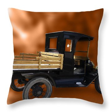 Old Truck Throw Pillow by Jo-Anne Gazo-McKim
