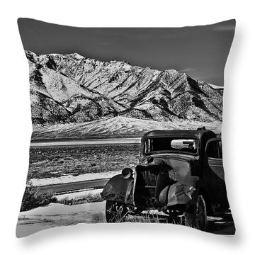 Old Truck Throw Pillow by Robert Bales