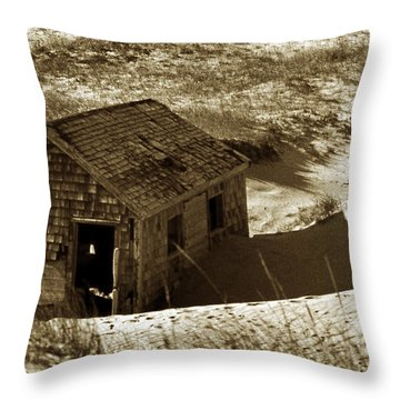 Old Tyme Cape Cod Throw Pillow by Skip Willits