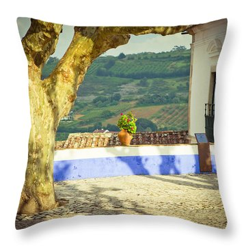 Oldstyle Patio  Throw Pillow by Raimond Klavins