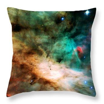 Omega Swan Nebula 2 Throw Pillow by Jennifer Rondinelli Reilly - Fine Art Photography
