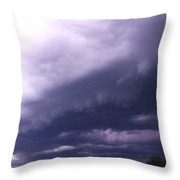 Ominous Clouds Throw Pillow by PainterArtist FIN