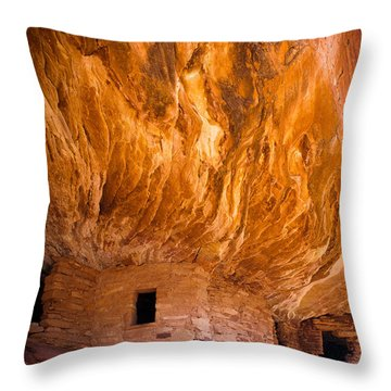 On Fire Throw Pillow by Inge Johnsson