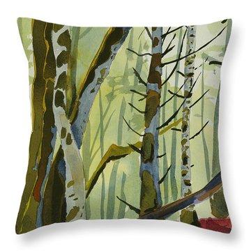 On Ivy Hill Throw Pillow by Alexandra Schaefers