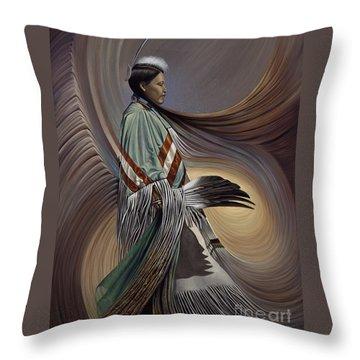 On Sacred Ground Series I Throw Pillow by Ricardo Chavez-Mendez